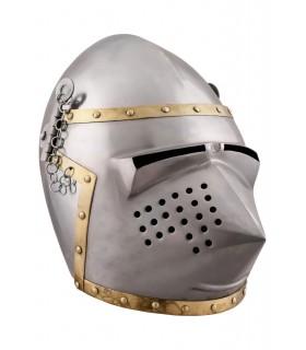 Bacinete picudo con visor, año 1390
