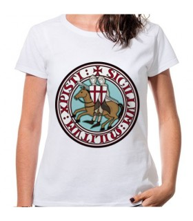 T-shirt Femme Blanc Templiers, manches courtes