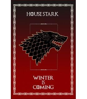 Bannière Jeu de Trônes de la Maison Stark (75x115 cm.)