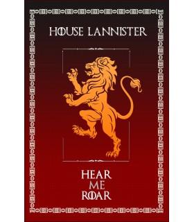 Bannière Jeu de Trônes de la Maison Lannister (75x115 cm.)