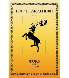Bannière Jeu de Trônes de la Maison Baratheon (75x115 cm.)