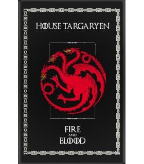 Bannière Jeu de Trônes de la Maison Targaryen (75x115 cm.)