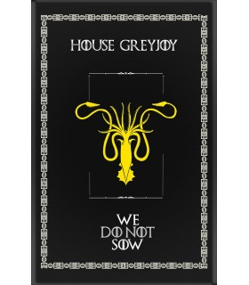 Bannière Jeu de Trônes de la Maison GreyJoy (75x115 cm.)