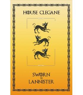 Bannière Jeu de Trônes de la Maison Clegane (75x115 cm.)