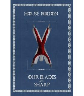 Bannière Jeu de Trônes de la Maison Bolton (75x115 cm.)