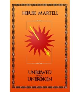 Bannière Jeu de Trônes de la Maison Martell (75x115 cm.)