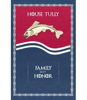 Bannière Jeu de Trônes de la Maison Tully (75x115 cm.)