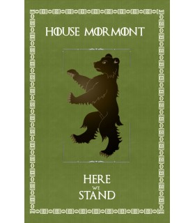 Bannière Jeu de Trônes de la Maison Mormont (75x115 cm.)