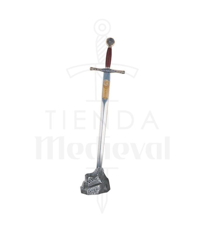 L'exposant de la pierre d'argent mini Excalibur