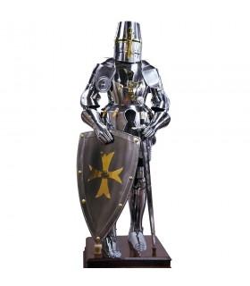 L'armure des chevaliers Templiers plein