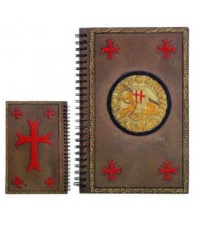 Ordre du jour notes avec le sceau des Templiers