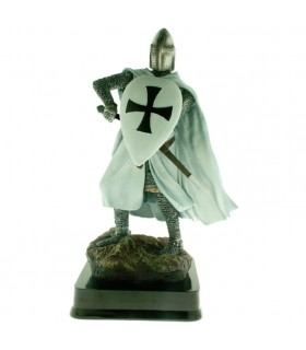 Miniature Chevalier Guerrier Teutonique Bouclier, 23 cms.