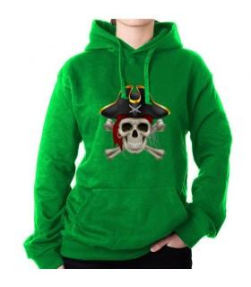 Sweat-shirt Pirate Vert, avec Capuche