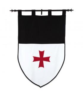 Bannière des Templiers, le blanc et le noir