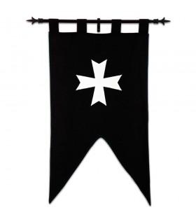 Bannière des Chevaliers Hospitaliers (105 x 55 cms.)