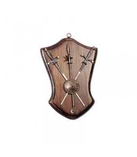 La panoplie de l'épée, le bouclier et la selle