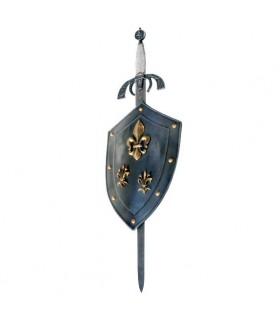Bouclier de la Fleur de Lys avec l'épée