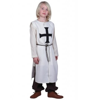 Tabard enfant Teutonique, naturel, blanc