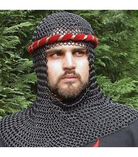 Coiffe médiévale en acier noir
