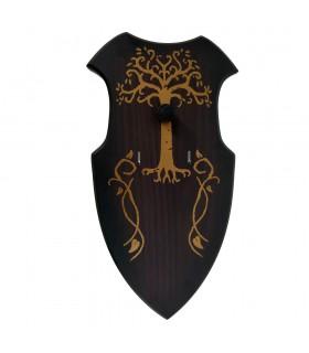 Épées suspendues table décorée (22x42 cm).