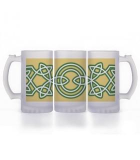 Chope de bière Noeuds Celtiques, en verre translucide