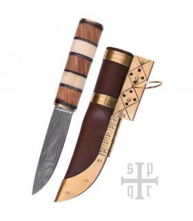 Couteau Viking Seax, L'Acier De Damas