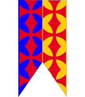 Standard Médiévale Bicolore Traverse