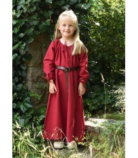 Robe viking rouge Ana, fille