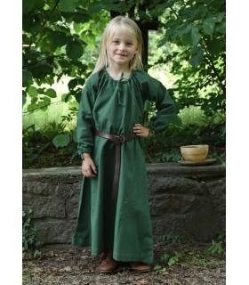 Robe viking vert Ana, fille
