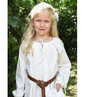 Robe viking blanc Ana, fille