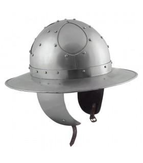 Casque Bouilloire Prête au Combat, acier de 2 mm.