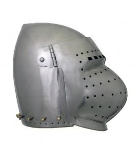 Bacinete Prêts pour le Combat avec pré-courbé, acier de 2 mm.