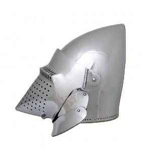 Bacinete Houndskull Prêts pour le Combat, acier de 2 mm.