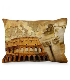 Coussin Rectangulaire Empereur Romain à côté du Colisée