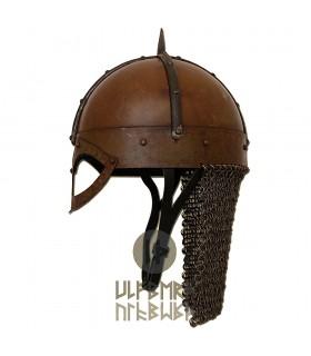 Casque Viking Gjermundbu avec cotte de mailles, Prête au Combat
