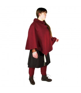 Gugel viking Egill, de laine rouge