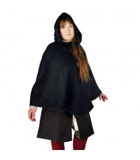 Gugel viking Egill, de laine noire