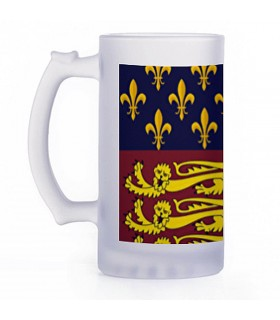 Chope de bière Médiévale, cristal translucide
