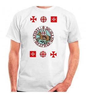 T-shirt Chevaliers de la croix des Templiers, de manches courtes