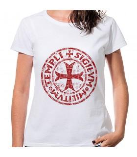 T-shirt Femme Blanc de la Croix et de la Légende des Templiers