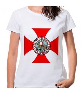 T-shirt de la Croix des Templiers Femme à manches courtes, diverses couleurs