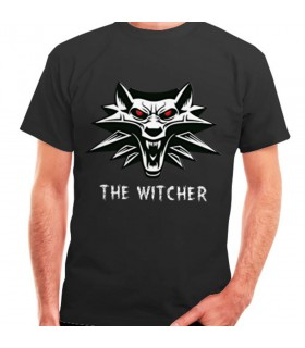T-shirt de The Witcher noir, manches courtes