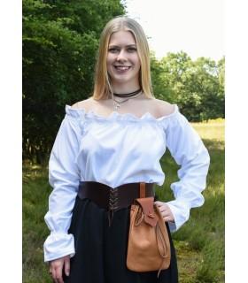 Chemisier médiéval blanc à manches longues, Carmen