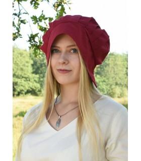 Bonnet Médiéval Femmes avec des plis, diverses couleurs