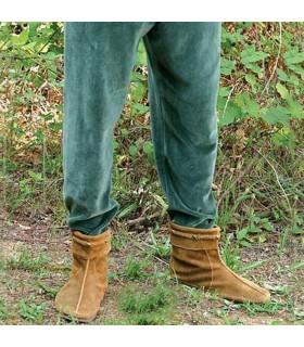 Pantalon médiéval de velours élastique