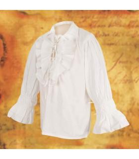 Chemise de pirate de large, avec des lacets