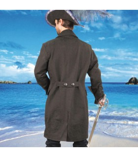 Manteau de pirate barbe noire
