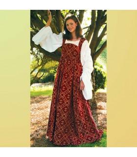 Robe médiévale Fleur de Lys