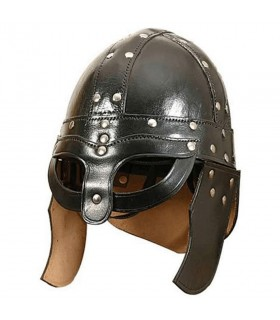 Casque de viking en cuir