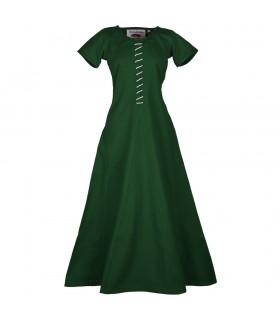 Robe médiévale Ava avec manches courtes